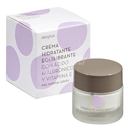 Увлажняющий крем для поддержания баланса жирности кожи с гиалуроновой кислотой и витамином Е для нормальной и жирной кожи